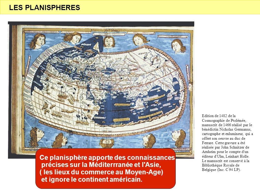 LES PLANISPHERES Ce planisphère apporte des connaissances