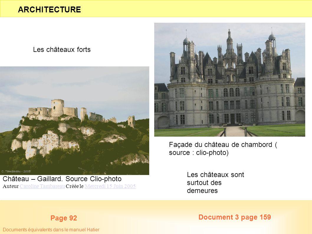 ARCHITECTURE Les châteaux forts