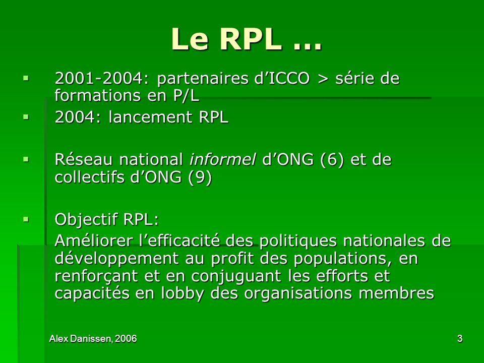 Le RPL … 2001-2004: partenaires d'ICCO > série de formations en P/L