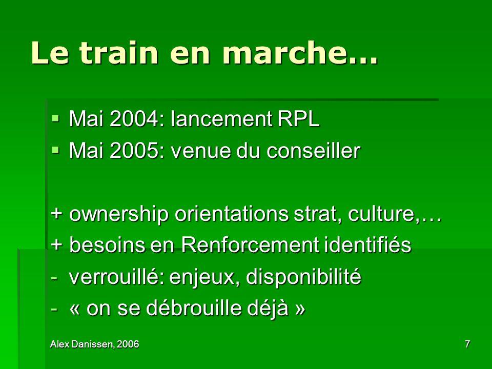 Le train en marche… Mai 2004: lancement RPL