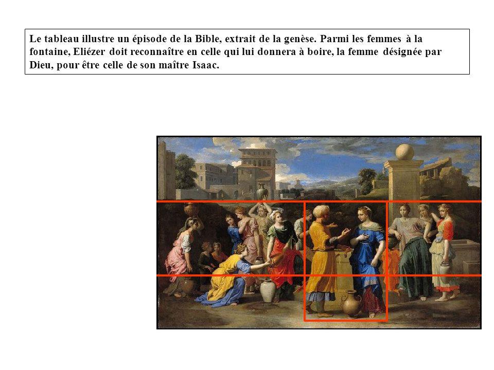Le tableau illustre un épisode de la Bible, extrait de la genèse