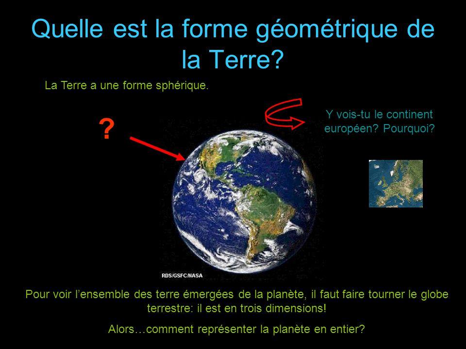 Quelle est la forme géométrique de la Terre