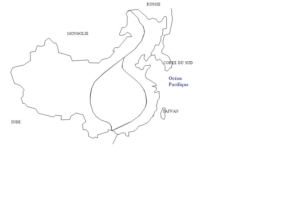 RUSSIE MONGOLIE COREE DU SUD Océan Pacifique TAIWAN INDE