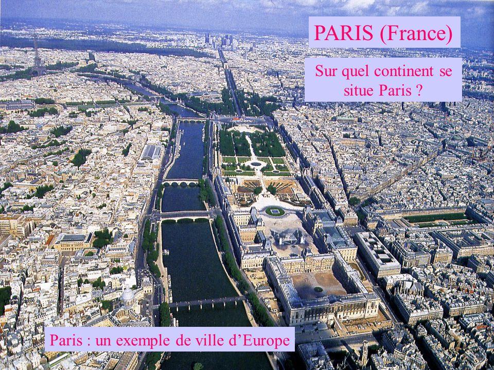 Sur quel continent se situe Paris