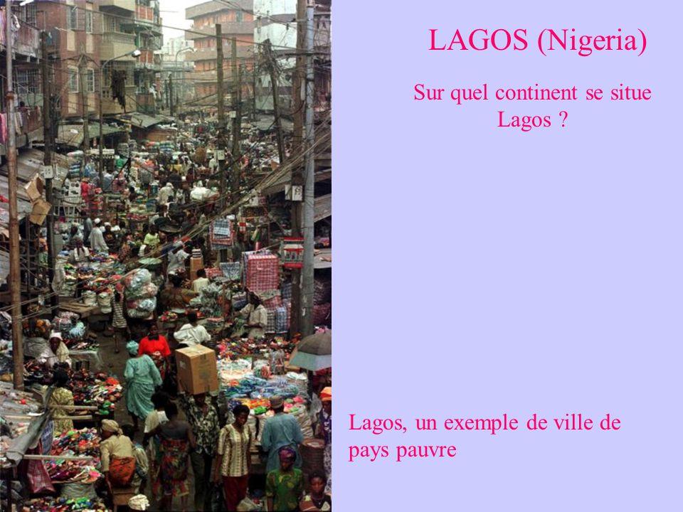 Sur quel continent se situe Lagos