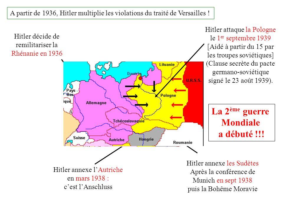 La 2ème guerre Mondiale a débuté !!!