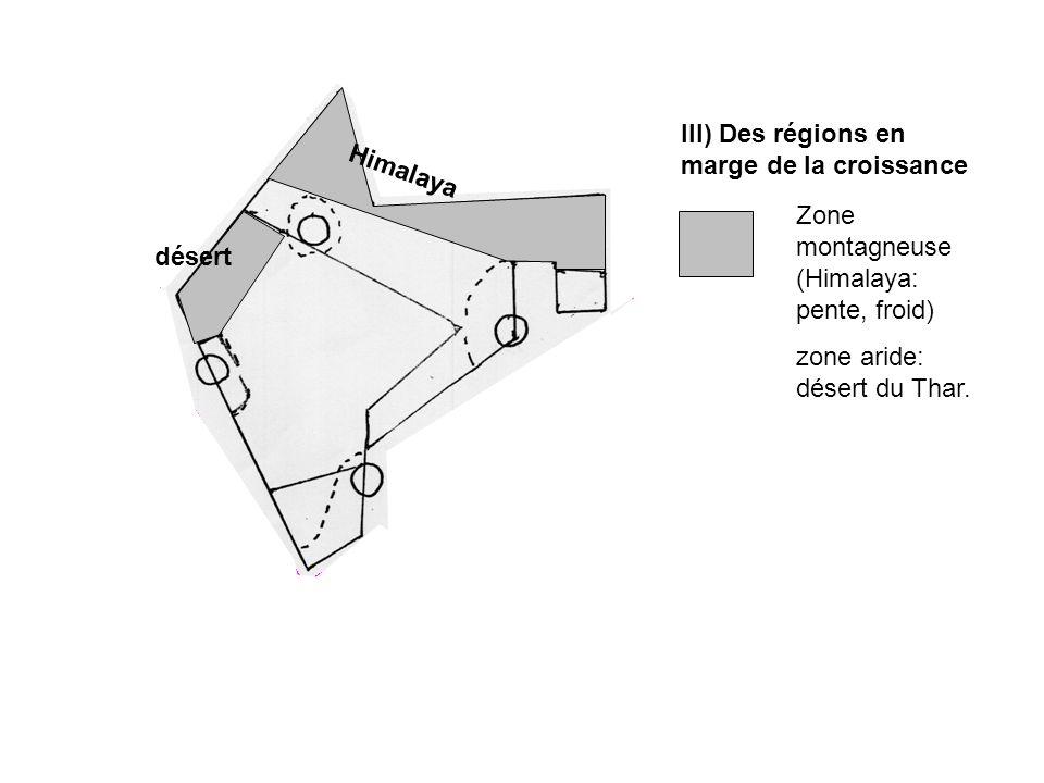 III) Des régions en marge de la croissance