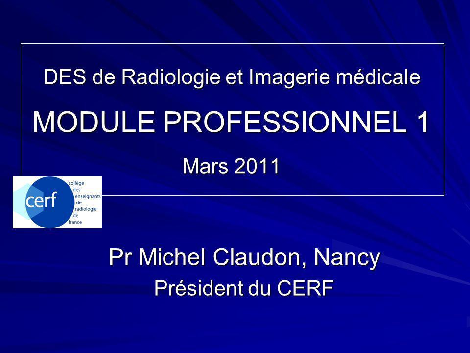 Pr Michel Claudon, Nancy Président du CERF