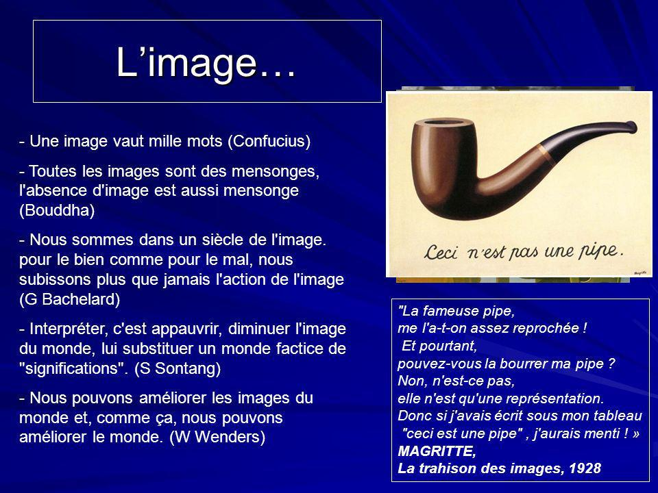 L'image… - Une image vaut mille mots (Confucius)