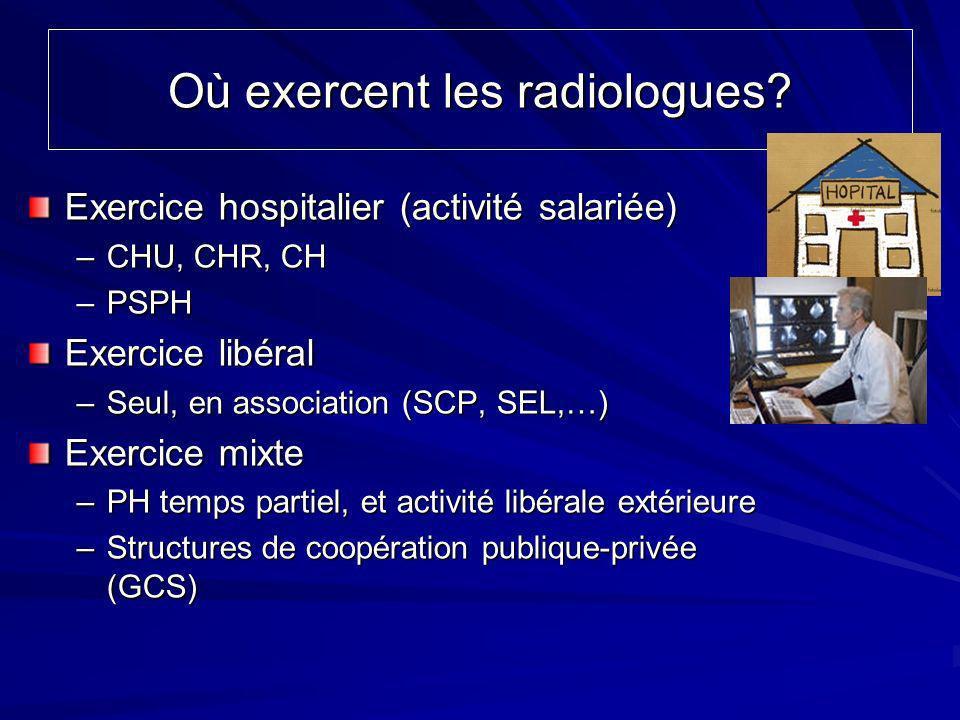 Où exercent les radiologues