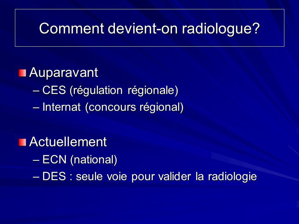 Comment devient-on radiologue