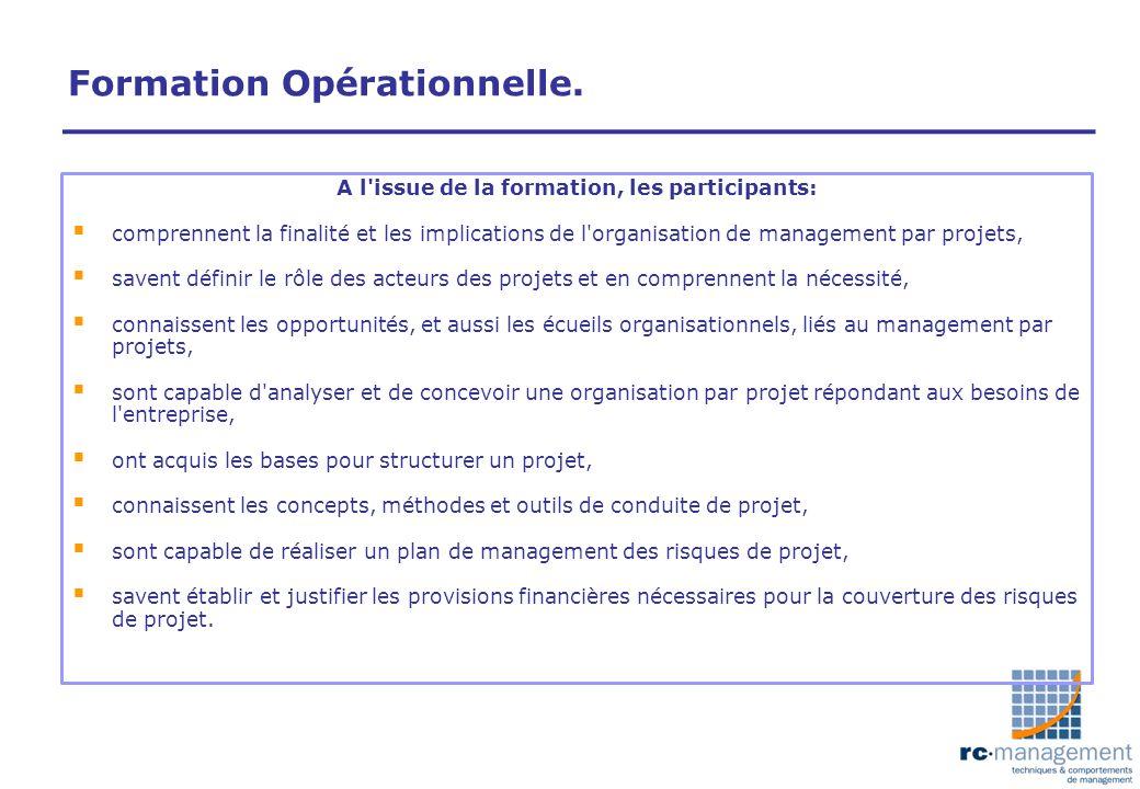 Formation Opérationnelle.