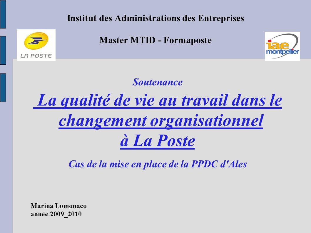 Institut des Administrations des Entreprises Master MTID - Formaposte