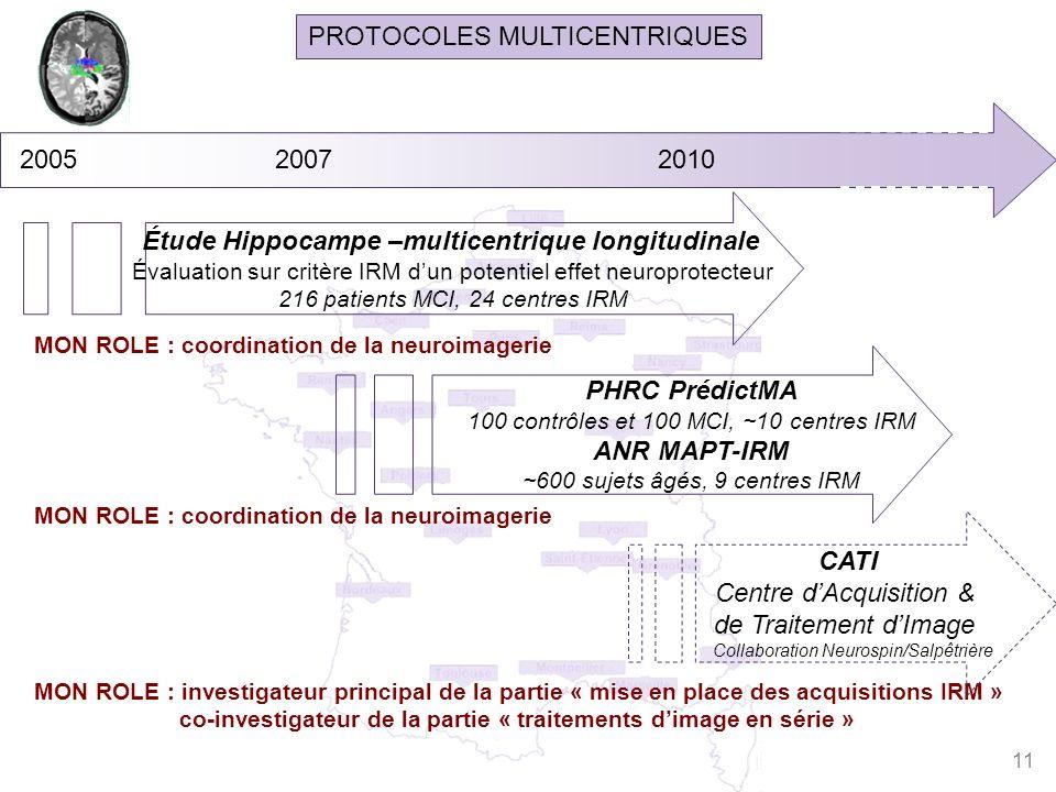 Étude Hippocampe –multicentrique longitudinale