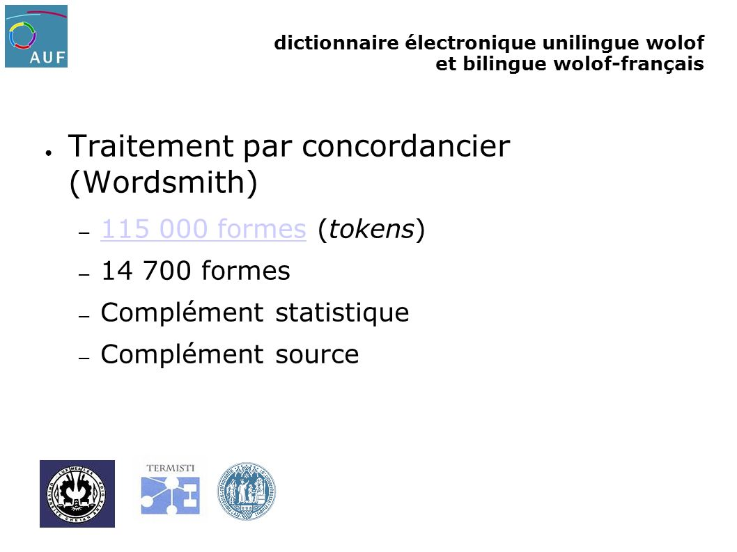 Traitement par concordancier (Wordsmith)