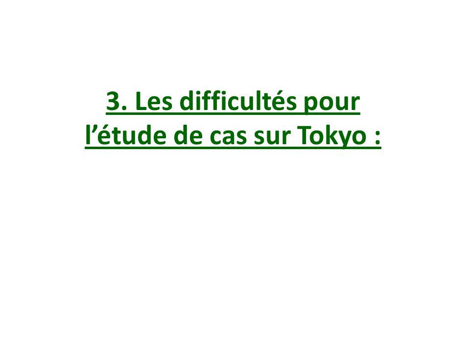 l'étude de cas sur Tokyo :