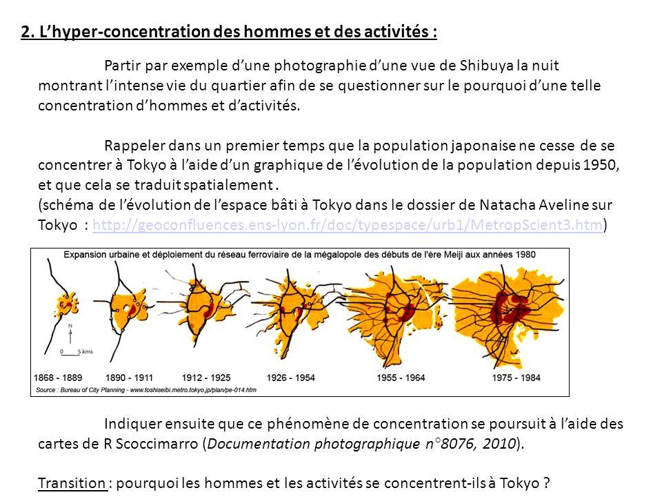 2. L'hyper-concentration des hommes et des activités :