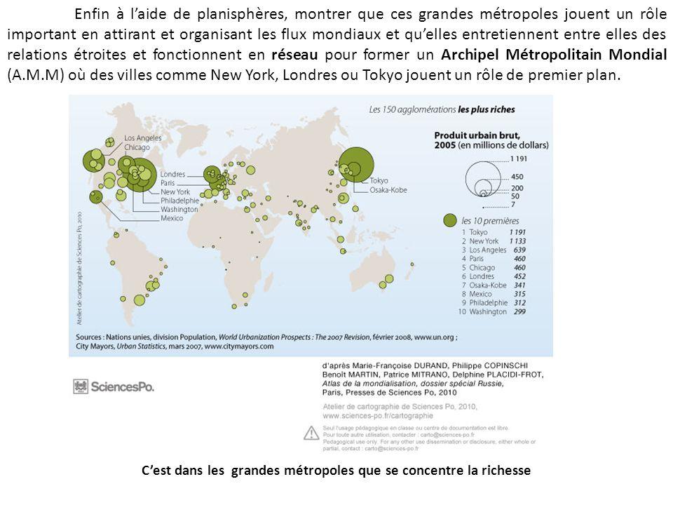 C'est dans les grandes métropoles que se concentre la richesse