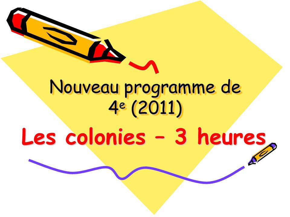Nouveau programme de 4e (2011)