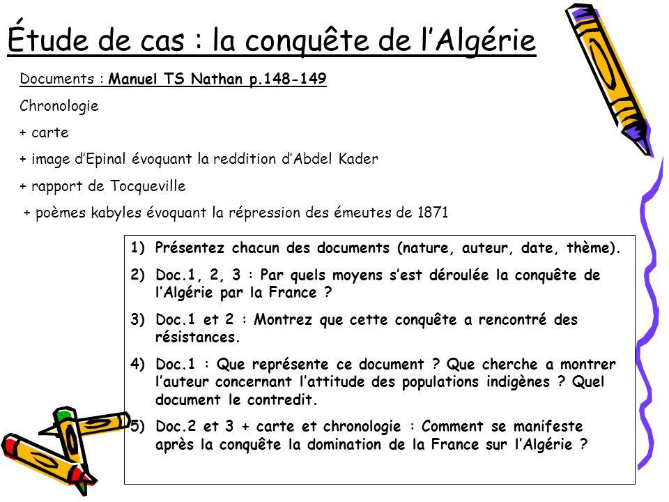 Étude de cas : la conquête de l'Algérie