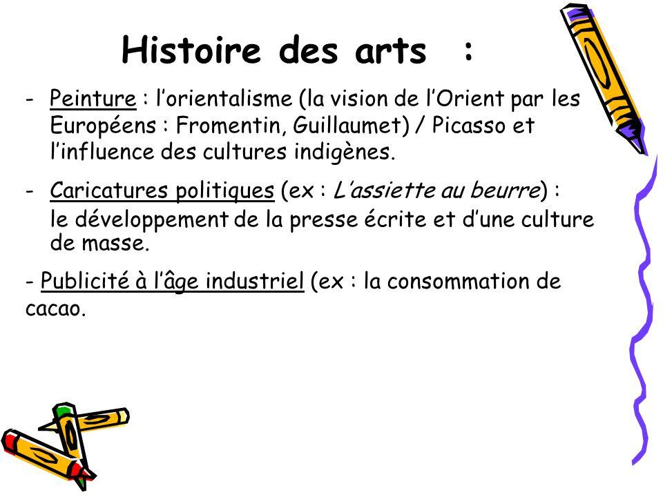 Histoire des arts :