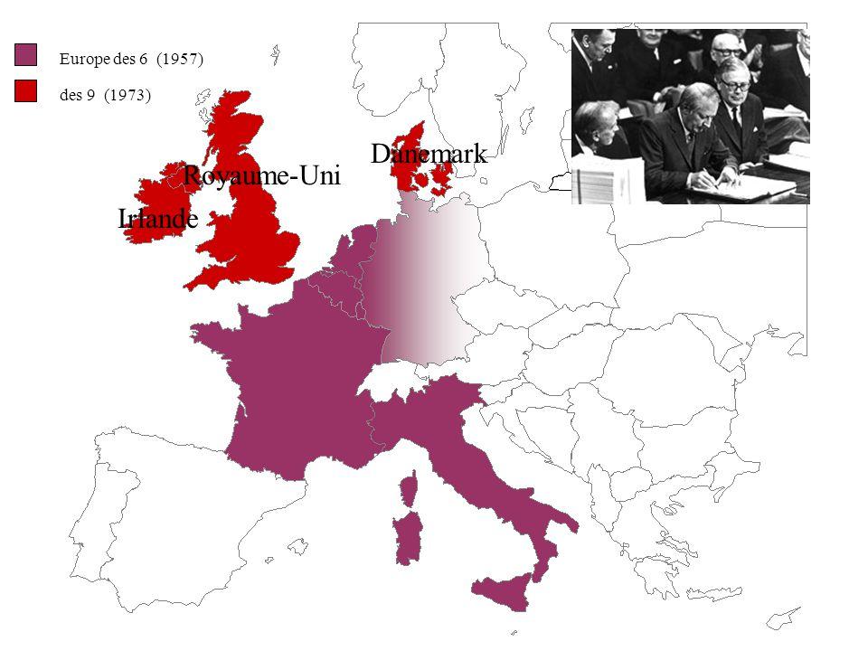 Europe des 6 (1957) des 9 (1973) Danemark Royaume-Uni Irlande