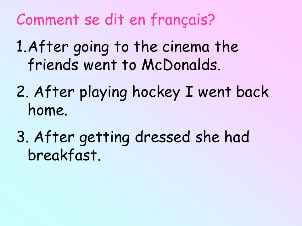Comment se dit en français