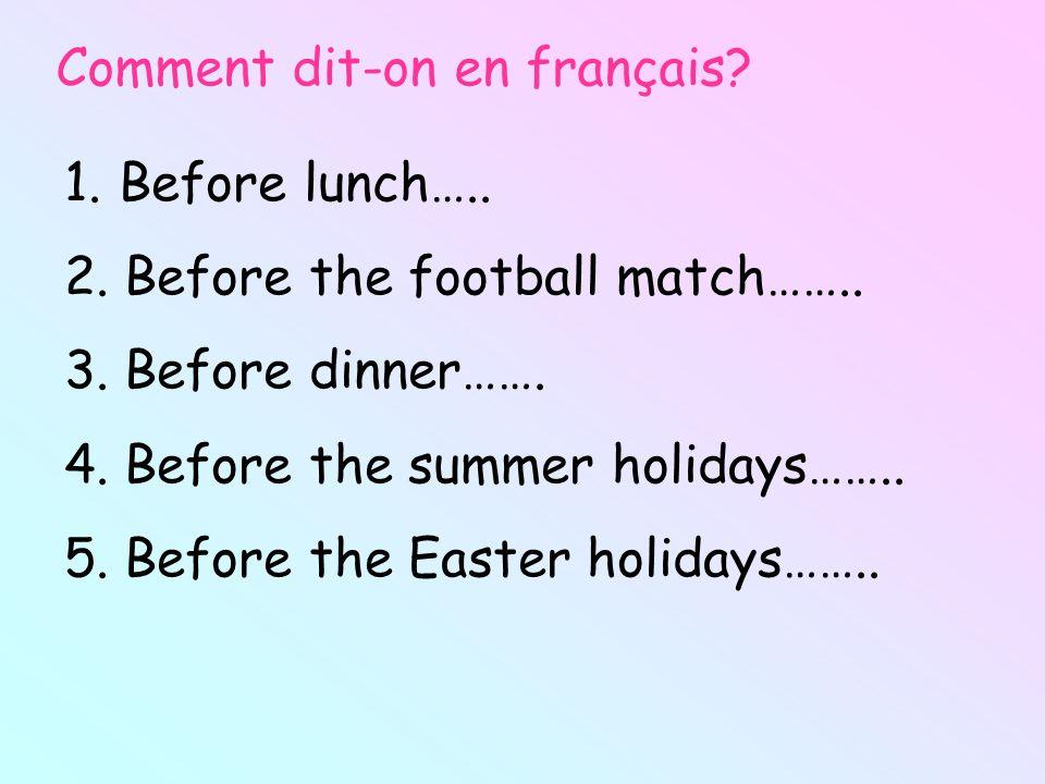 Comment dit-on en français