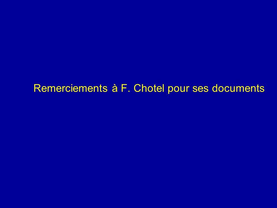 Remerciements à F. Chotel pour ses documents