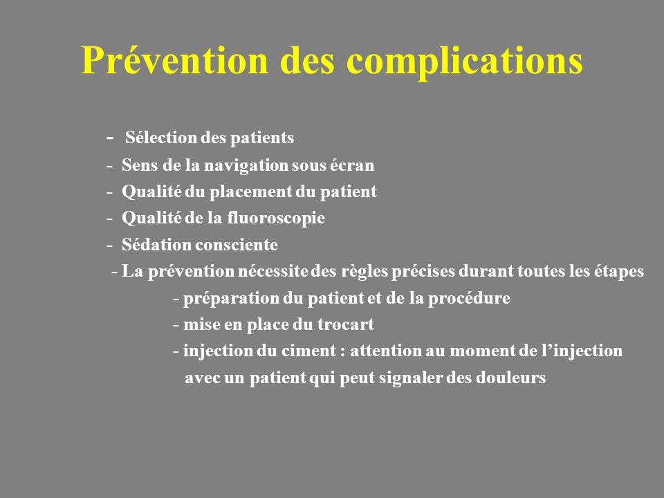 Prévention des complications