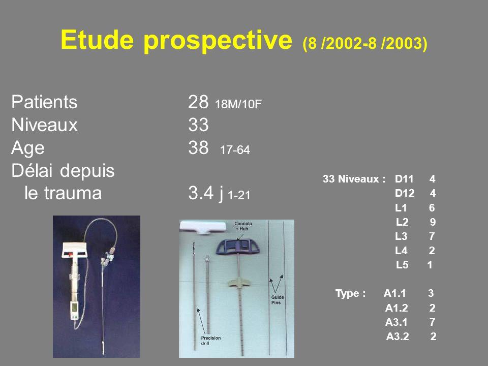 Etude prospective (8 /2002-8 /2003)