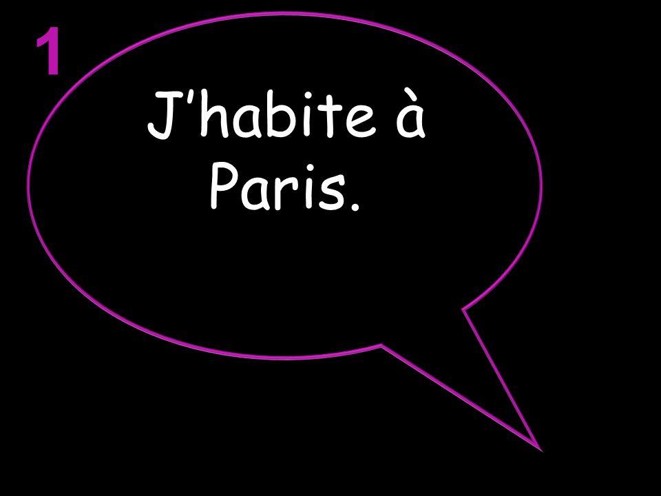 1 J'habite à Paris.