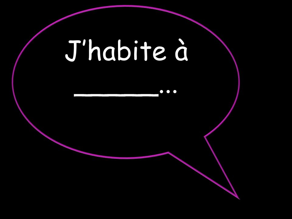 J'habite à _____...