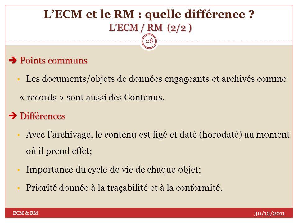 L'ECM et le RM : quelle différence L'ECM / RM (2/2 )