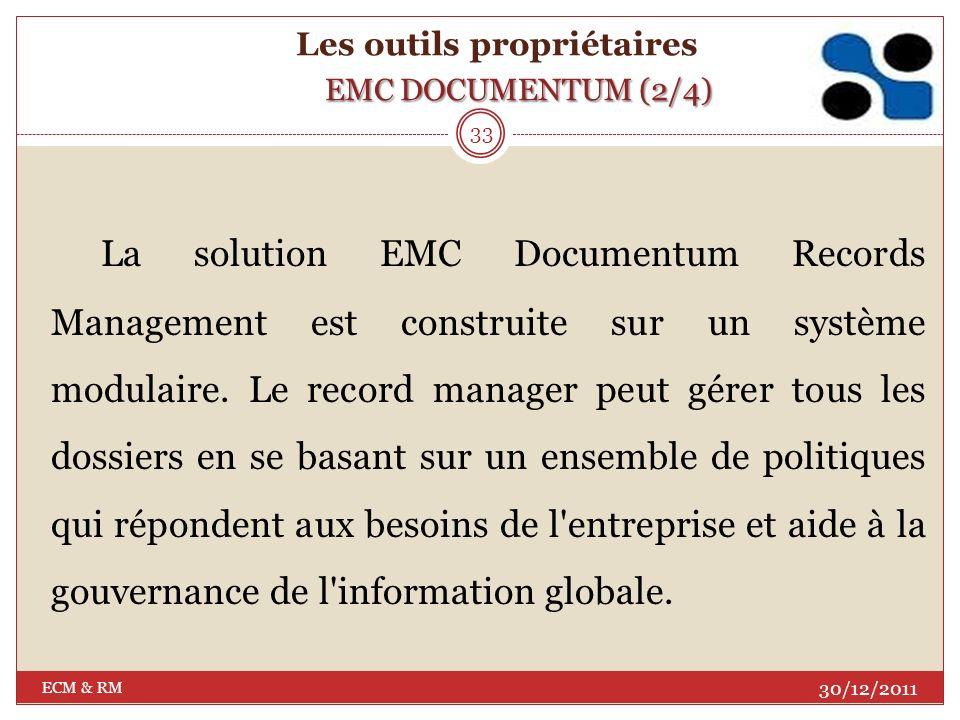 Les outils propriétaires EMC DOCUMENTUM (2/4)