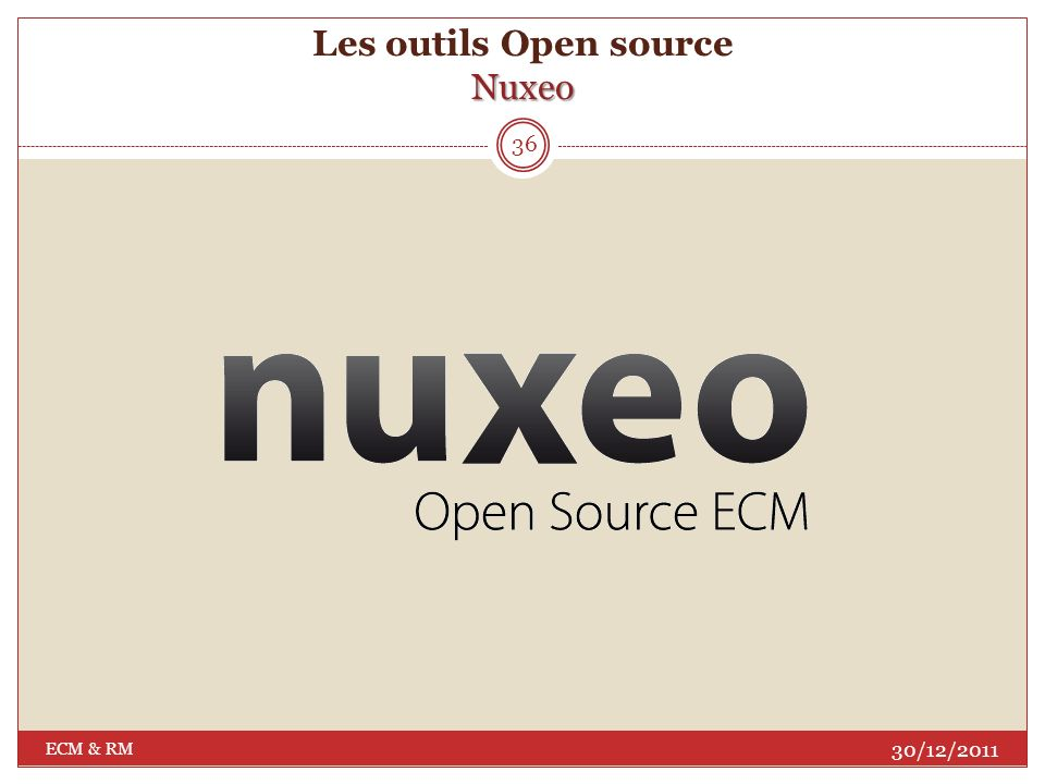Les outils Open source Nuxeo