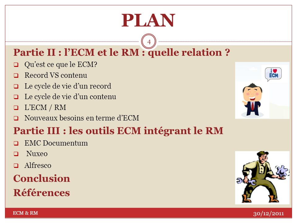 PLAN Partie II : l'ECM et le RM : quelle relation