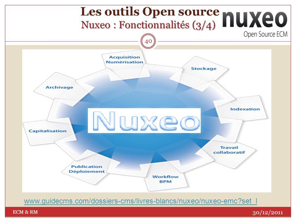 Les outils Open source Nuxeo : Fonctionnalités (3/4)