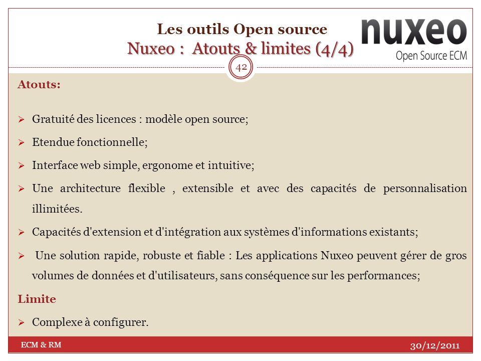 Les outils Open source Nuxeo : Atouts & limites (4/4)