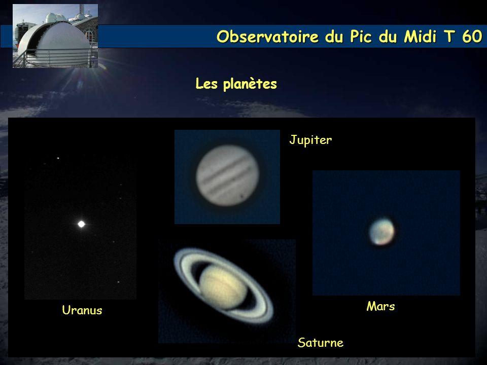 Les planètes Jupiter Mars Uranus Saturne