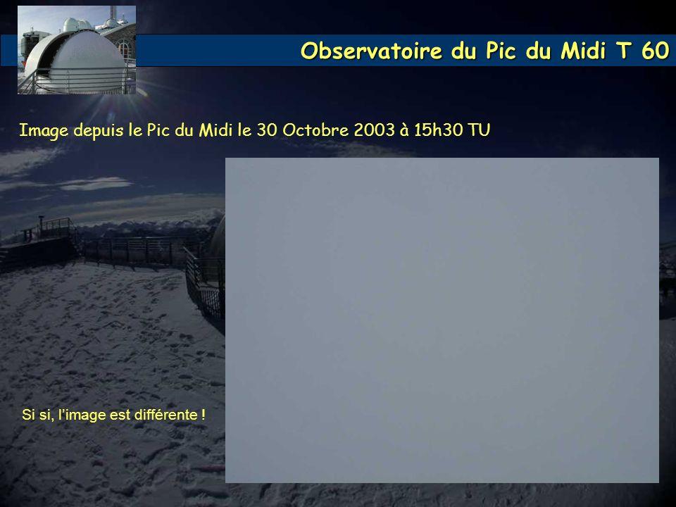 Image depuis le Pic du Midi le 30 Octobre 2003 à 15h30 TU