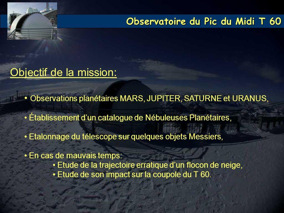 Objectif de la mission: