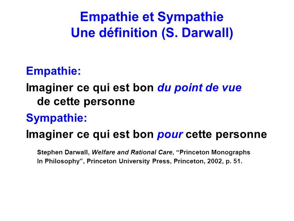 Empathie et Sympathie Une définition (S. Darwall)