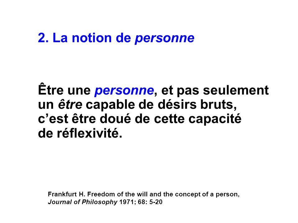 2. La notion de personne