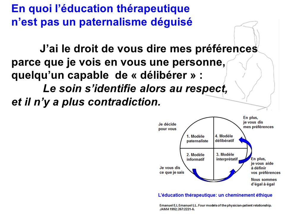 En quoi l'éducation thérapeutique n'est pas un paternalisme déguisé