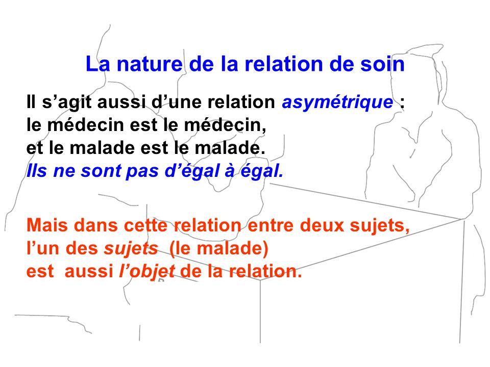 La nature de la relation de soin
