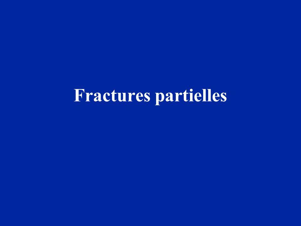 Fractures partielles