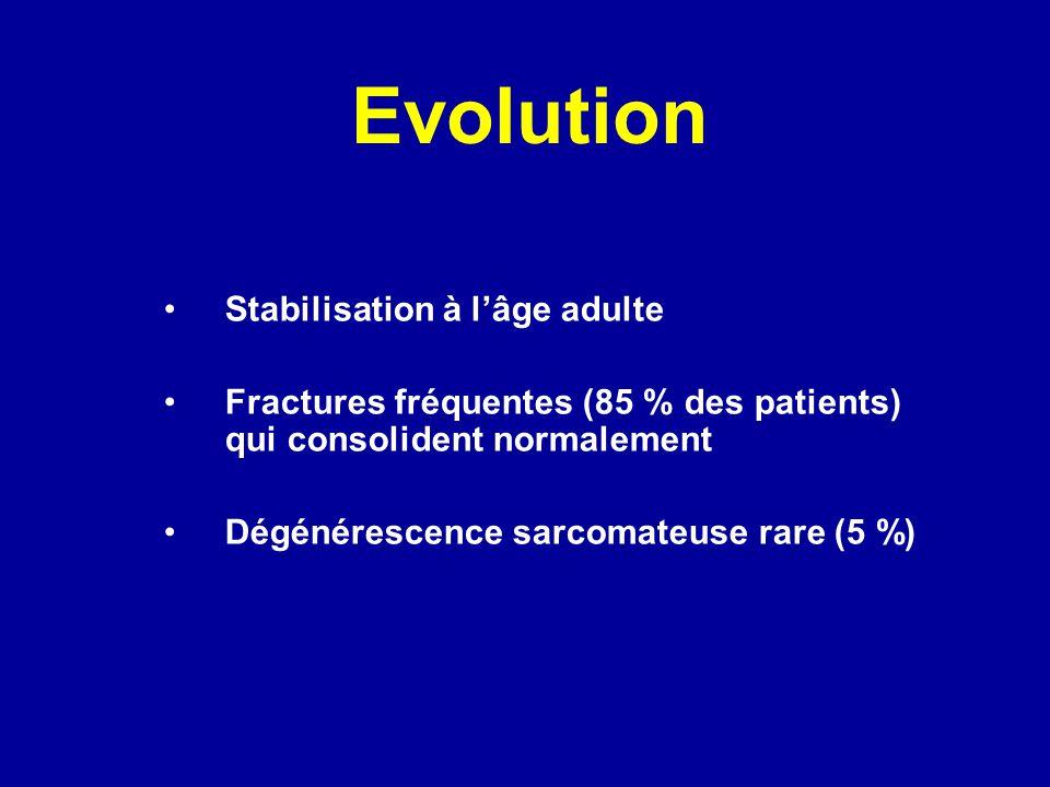 Evolution Stabilisation à l'âge adulte