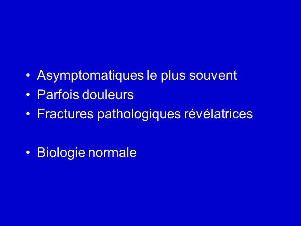 Asymptomatiques le plus souvent
