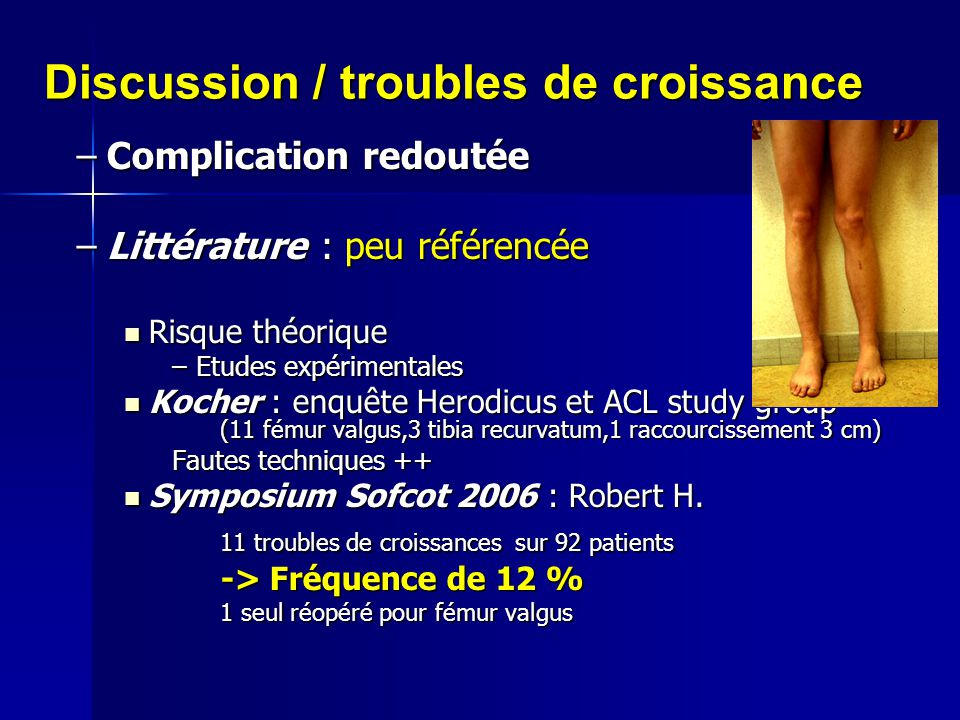 Discussion / troubles de croissance